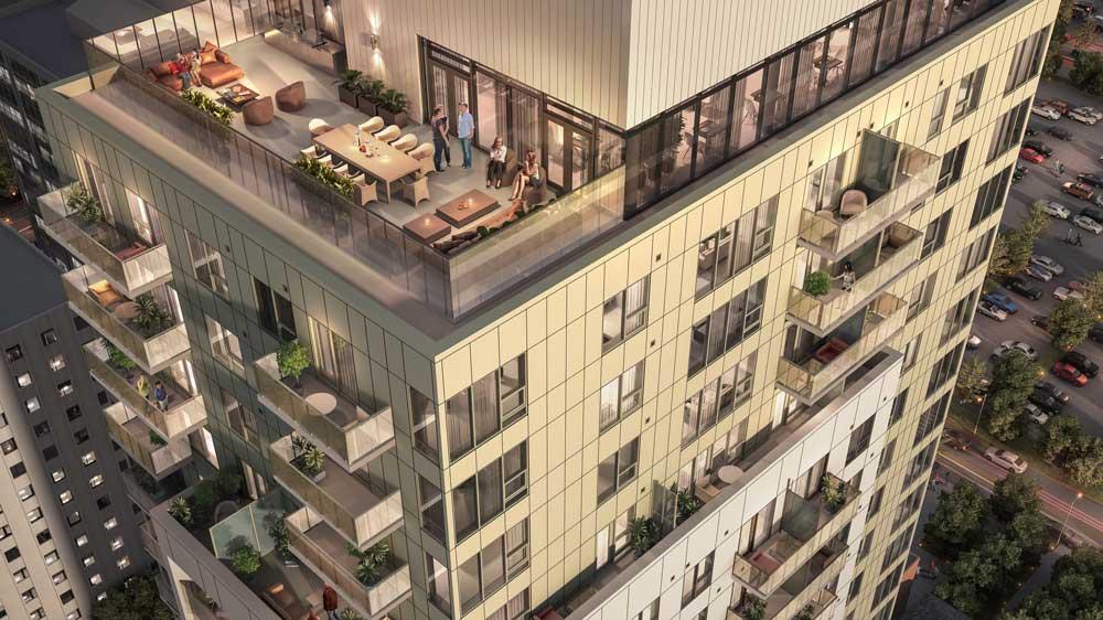 Augustana - roof top patio rendering