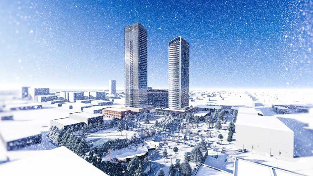 Park View - winter skyline rendering